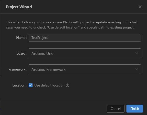 New PlatformIO project